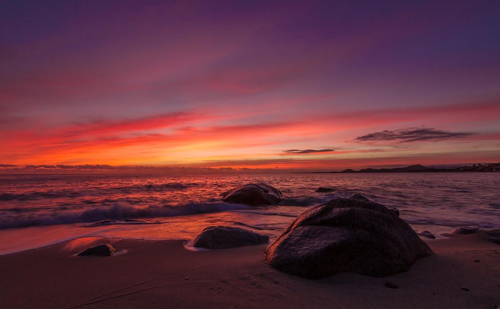 Red Dawn Over Sea of Cortez