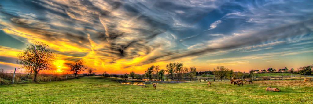 Iowa Fall Sunset