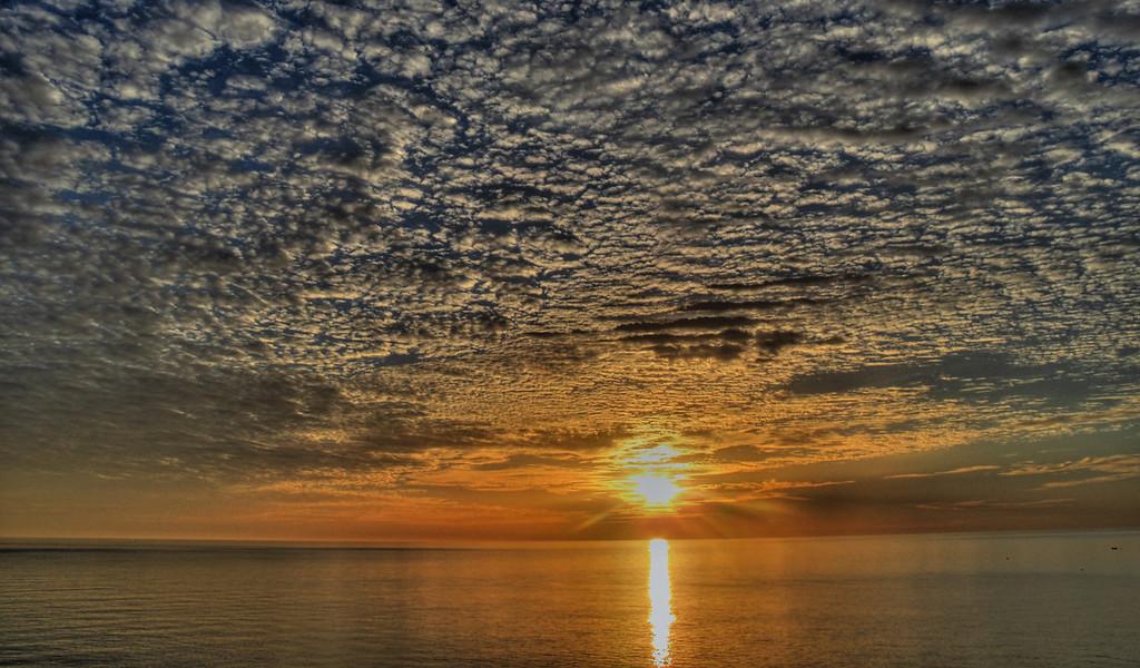 Cloudy Sunrise Over Sea of Cortez